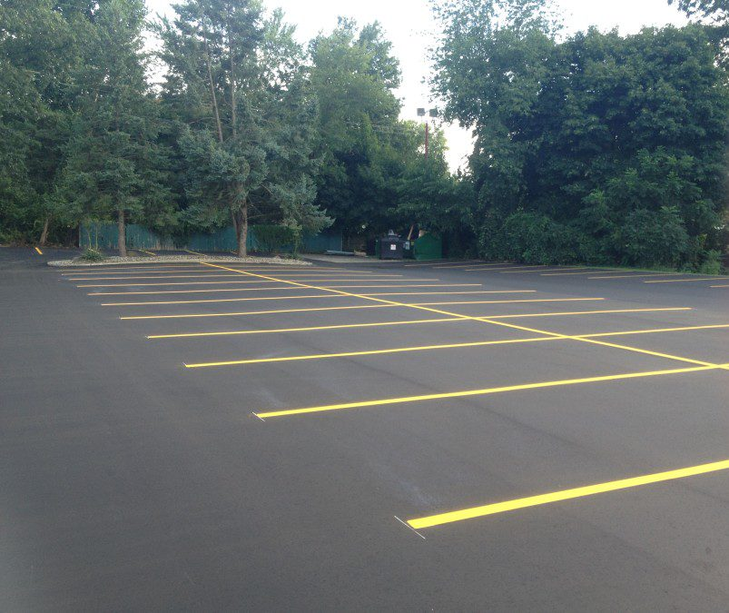 We did this parking lot paving in East Peoria - Perdue